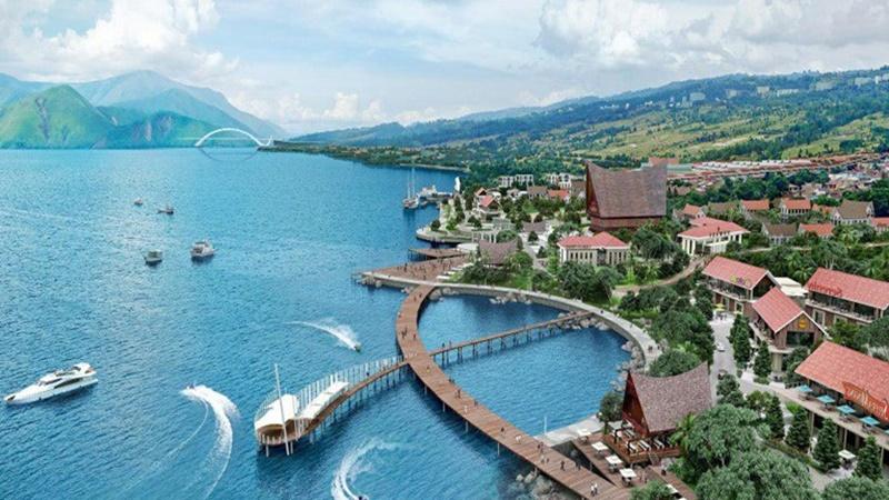 Pembangunan kawasan wisata Waterfront City Pangururan Samosir (sumber: MTI)