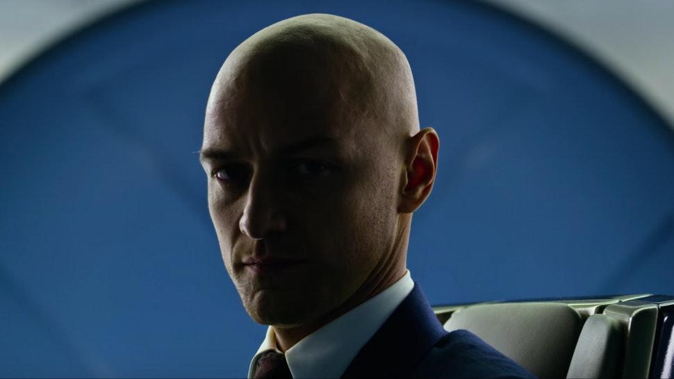 James McAvoy berperan sebagai Professor X di film X-Men. (Foto: Bustle)