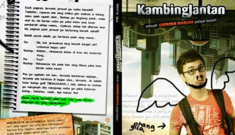 Buku Kambing Jantan karya Raditya Dika ( Foto : dunia tulis menulis )