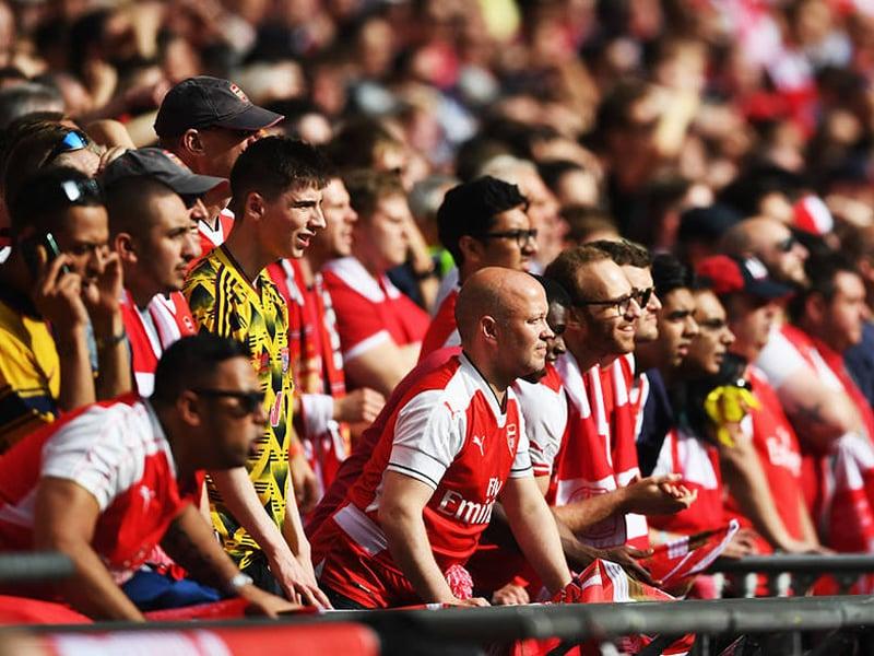 Ilustrasi pendukung Arsenal menyaksikan timnya melawan Everton pada Liga Inggris. Foto: Arsenal