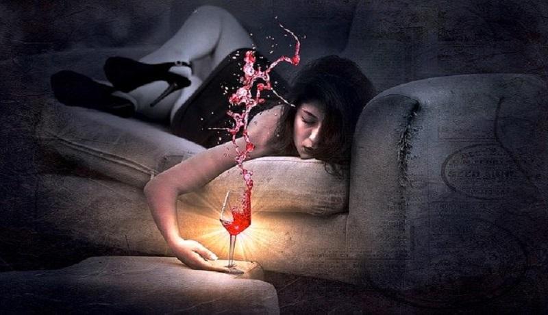 Ilustrasi wanita sedang mabuk. (Pixabay)