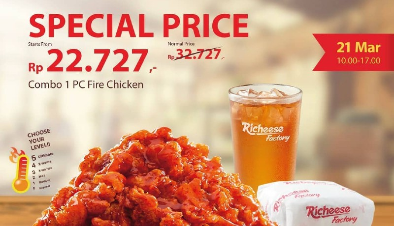 Special price Richeese Factory (foto : @richeese_factory/instagram)