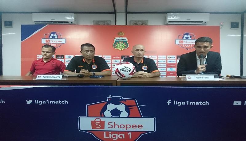 Press conference Persija after match melawan Bhayangkara FC. Foto: Andi/GenPI.co