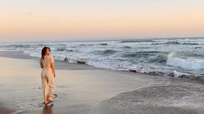 Aaliyah Massaid kangen berkunjung ke pantai (foto: SC IG @aaliyah.massaid)