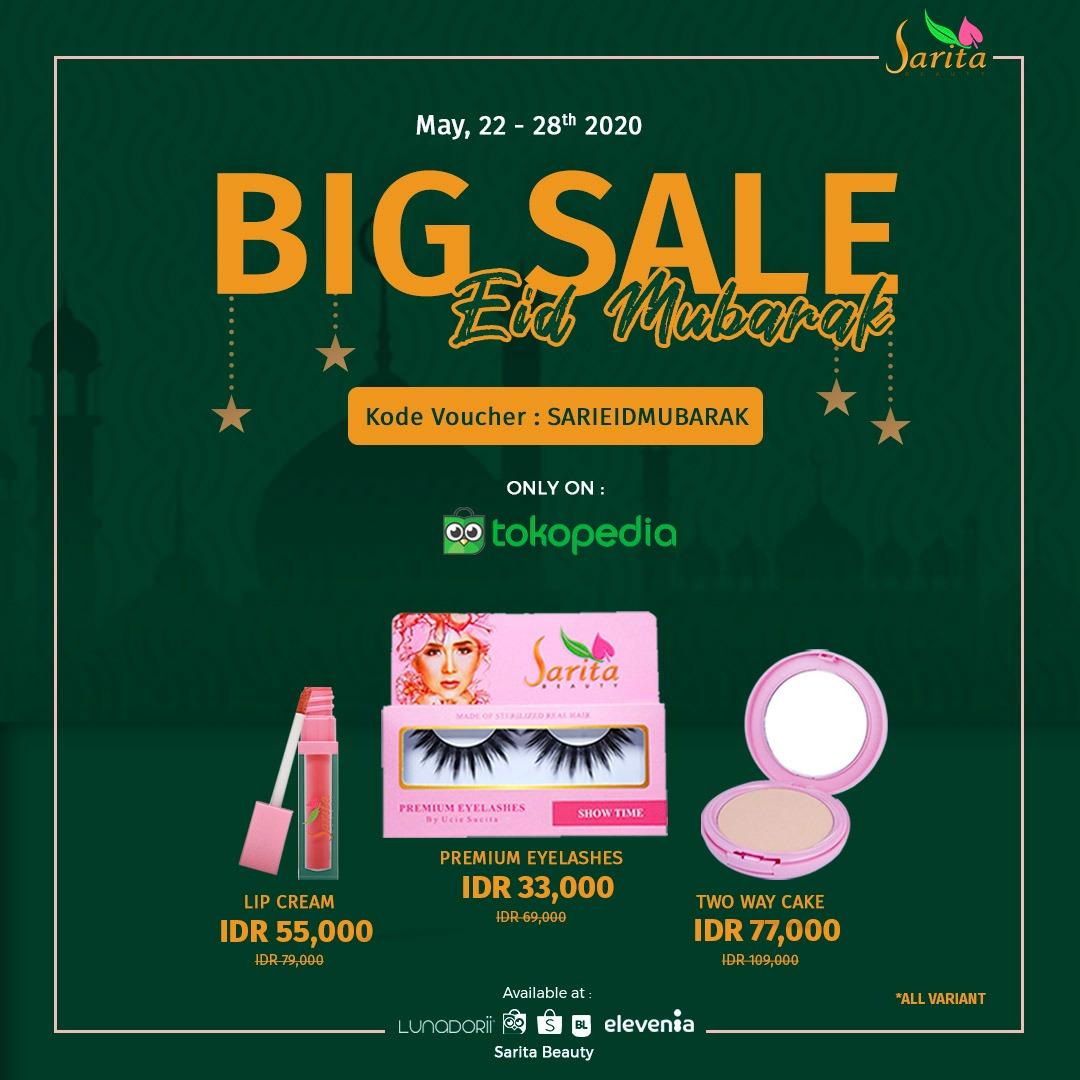 Sarita Beauty menggelar promo Big Sale Eid Mubarak dengan bonus cashback. Foto: Sarita Beauty