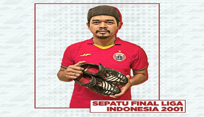Bambang Pamungkas lelang sepatu (@persijajkt/Instagram)