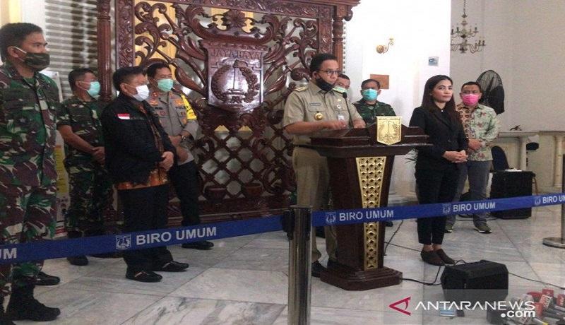 Gubernur DKI Anies Baswedan di Balai Kota, Jakarta. Foto: Antara