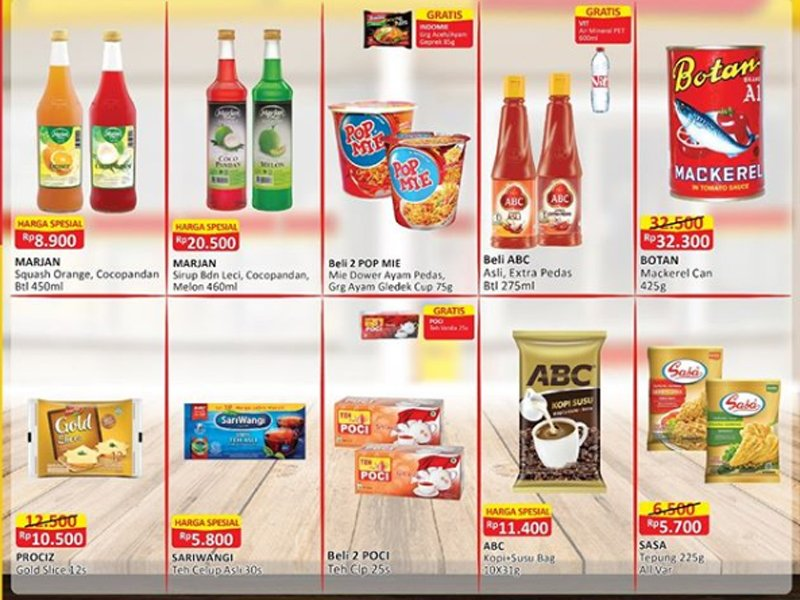 Promo Alfamart: Sirop Murah Banget, Teh Celup ada Bonus