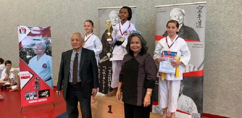 Heizmy Gursyia, Bocah Purwakarta Peraih Juara 1 Karate Dunia (foto : antara)