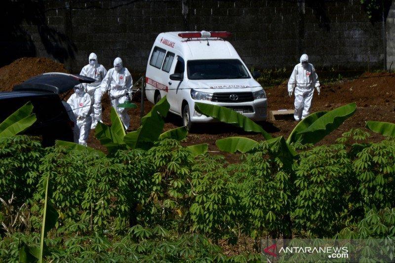 Pemakan jenazah korban covid-19. Foto: Antara