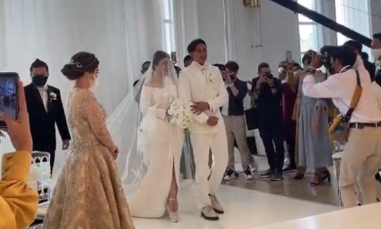 Felicya Angelista dan Immanuel Caesar Hito sah menjadi suami istri (foto: SC IG ouTube Felicya Angellista)