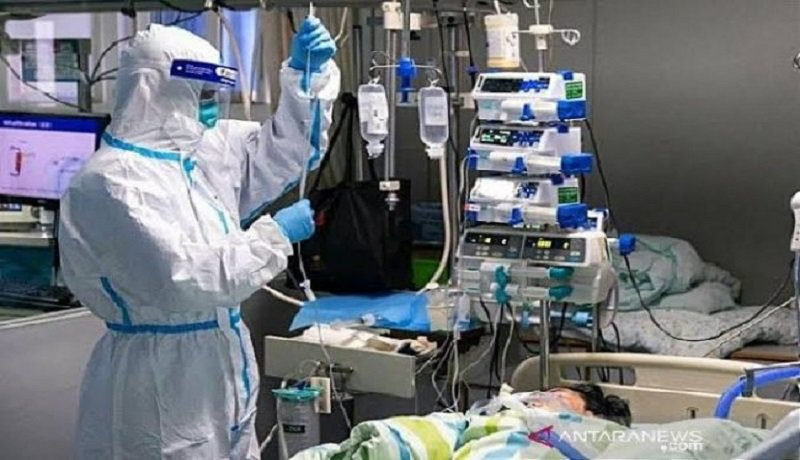 Petugas medis merawat pasien covid-19. Foto: Antara