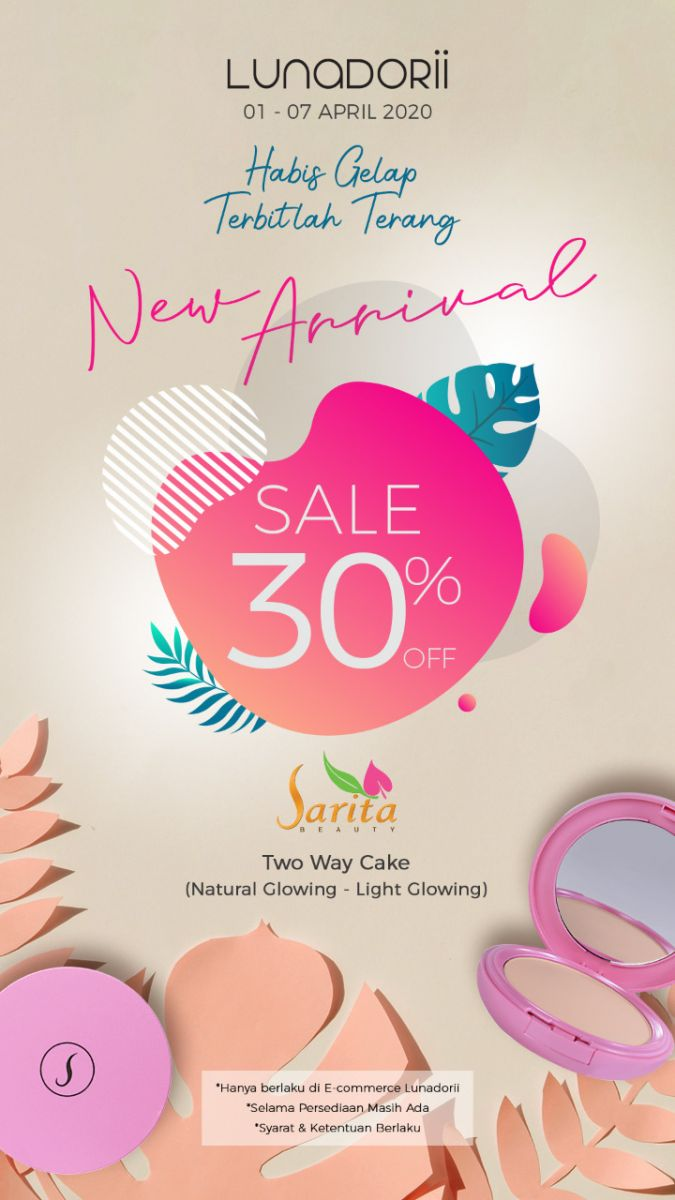 Beli Two Way Cake Sarita Beauty di Lunadorii Diskon 30 Persen