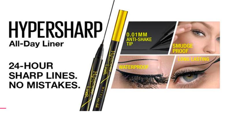 Maybeline Eyestudio Hypersharp Liner, Eyeline Cair Berbentuk Pena