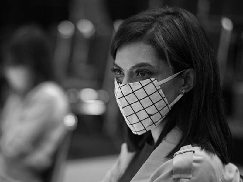 Najwa Shibab Pakai Masker, Semoga Lekas Sembuh