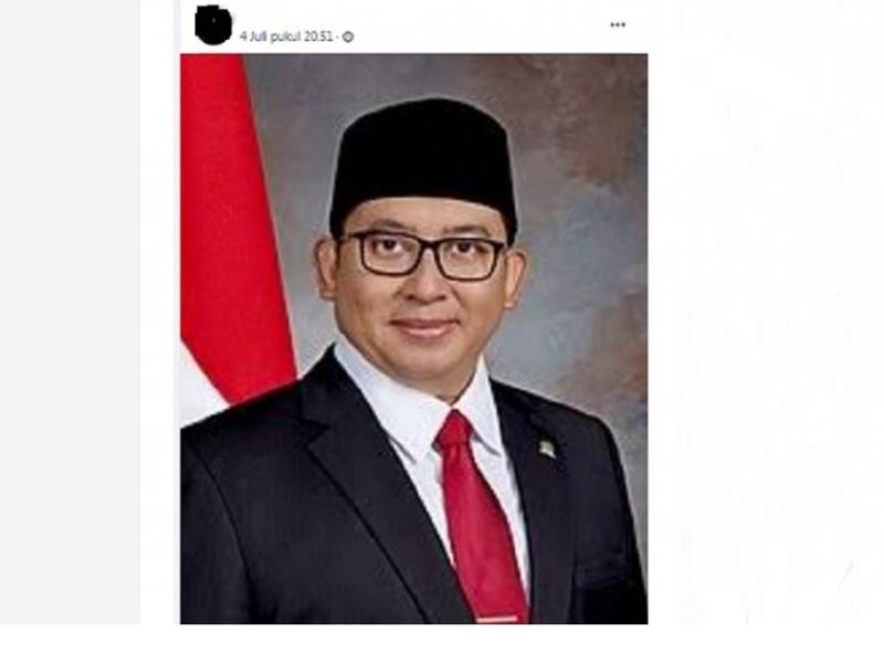 Viral Fadli Zon Jadi Menteri Kabinet Jokowi, Benarkah?