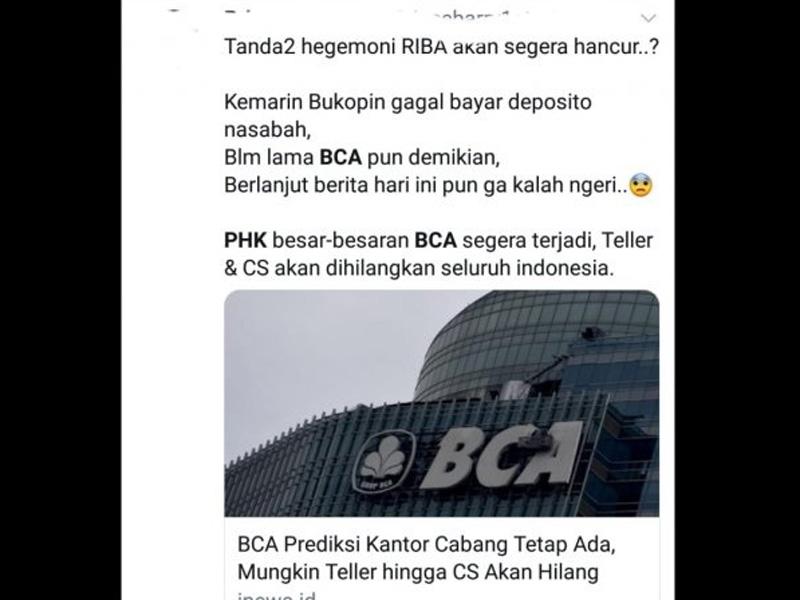 Viral BCA akan PHK Besar-besaran, Benarkah?