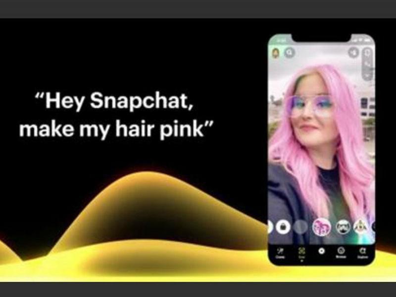 Fitur perintah suara Voice Scan di Snapchat. Foto: ANTARA/HO