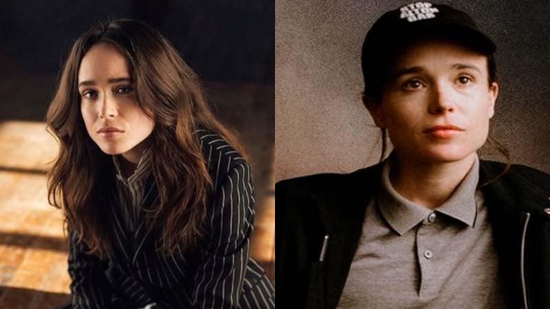 Ellen Page yang kini menjadi Elliot Page (foto: SC Twitter @ZHSQ_1234 dan @_ginabing)