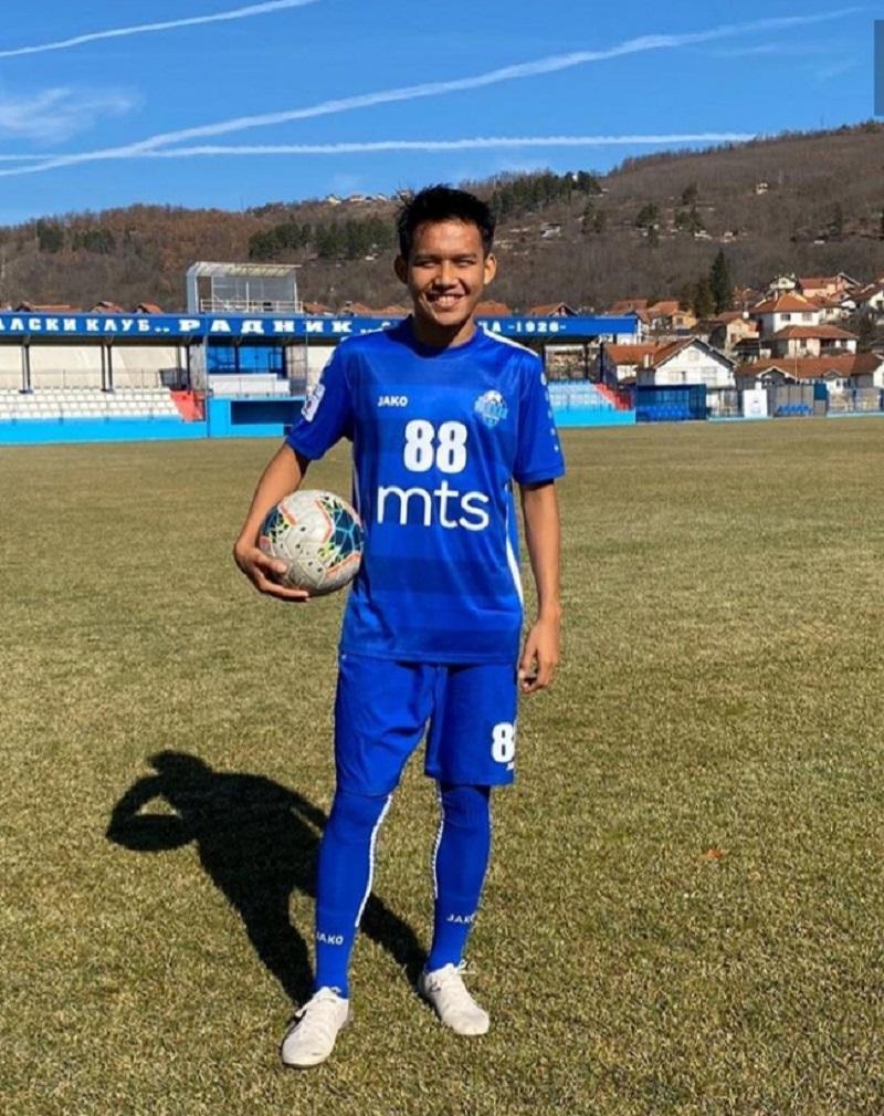 Witan Sulaiman Mulai Debut di Tim Asal Serbia (Foto: instagram @witansulaiman_)
