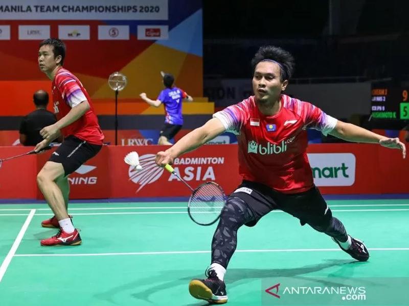 Mohammad Ahsan/Hendra Setiawan. Foto: Antara