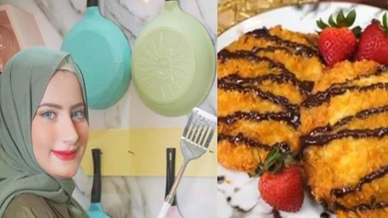 YouTuber Tasyi Athasyia memberikan resep roto goreng isi cokelat (foto: SC YouTube Tasyi Athasyia)