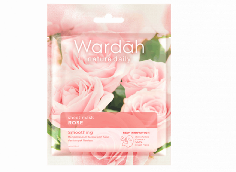 Wardah Nature Daily Sheet Mask Rose, Wujudkan Kulit Halus Wanita
