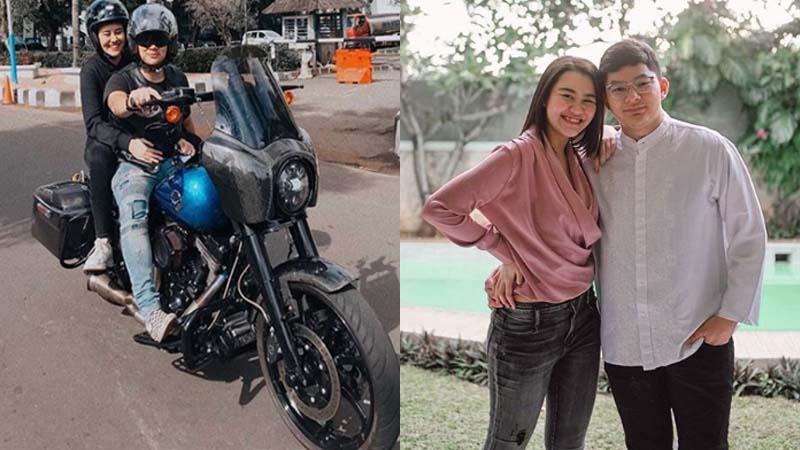 Lepas Kangen, Aaliyah Massaid Dibonceng Sultan Sapta Naik Harley