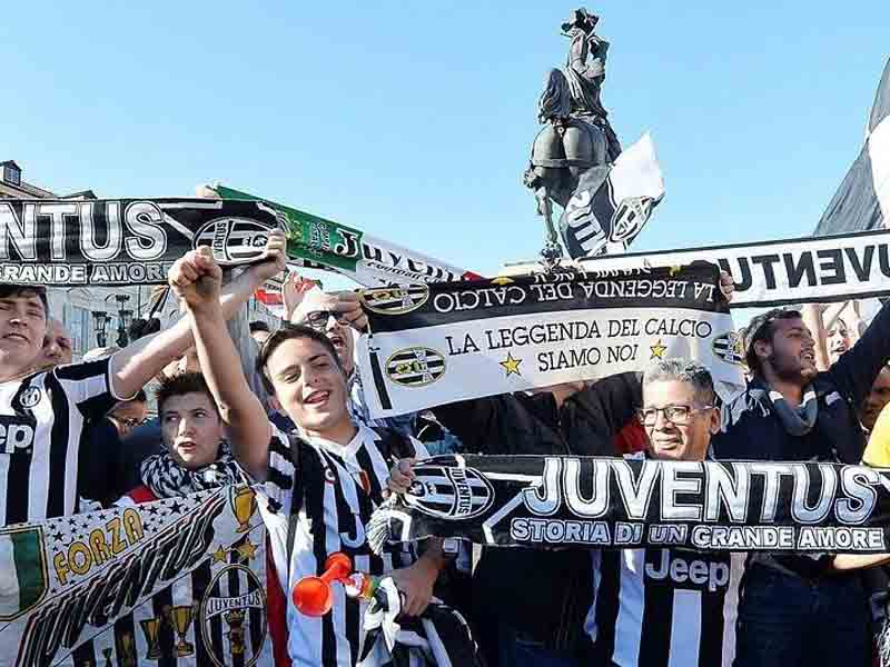 Suporter Juventus. Foto: Alessandro Di Marco/EPA