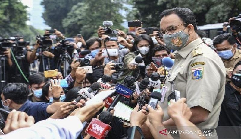 Anies Baswedan di Polda Metro Jaya. FOTO: Antara