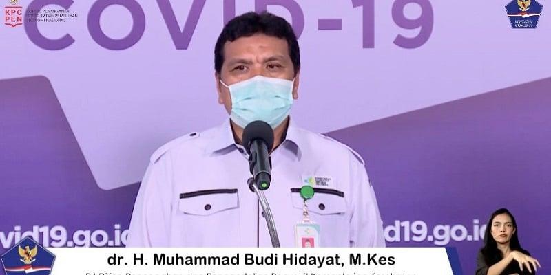 Plt Dirjen Pencegahan dan Pengendalian Penyakit Kementerian Kesehatan dr. H. Muhammad Budi Hidayat, M. Kes (Foto: BNPB)