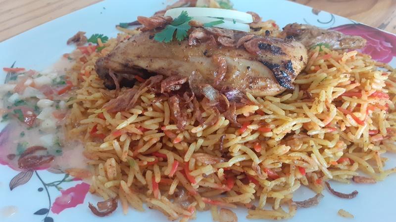 Nasi biryani yang disajikan Kenyang Kitchen (foto: GenPI.co)