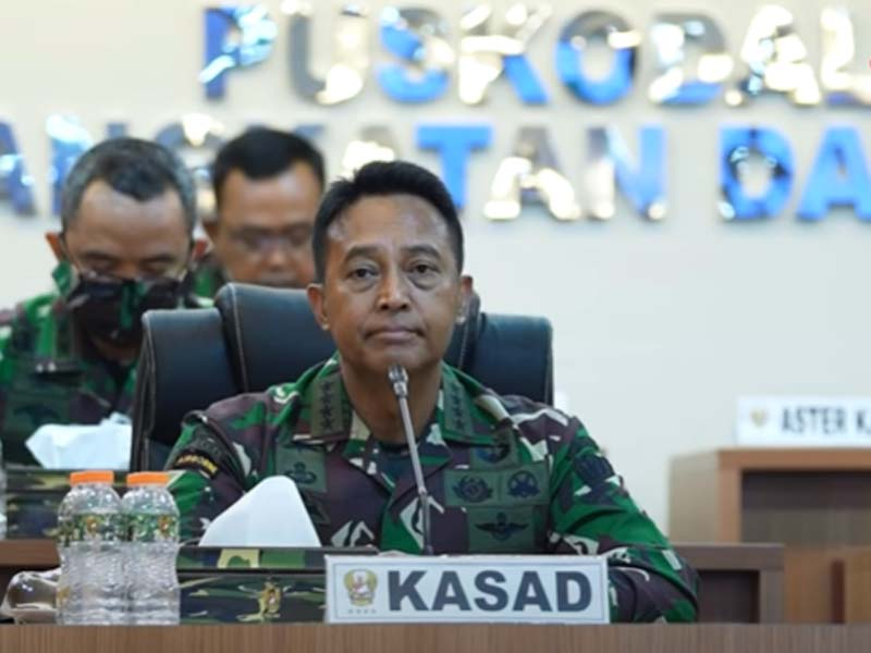 Jenderal Andika Perkasa. Foto: Screen Shot YouTube TNI AD