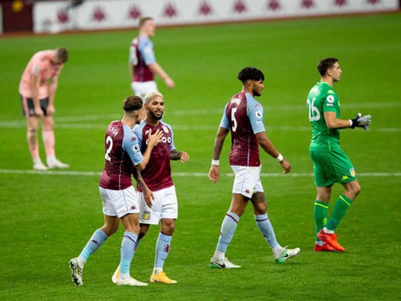 Emiliano Martinez menjadi bintang kemenangan Aston Villa saat melawan Sheffield United pada pekan kedua Liga Inggris 2020-2021. Foto: Twitter/@AVFCOfficial