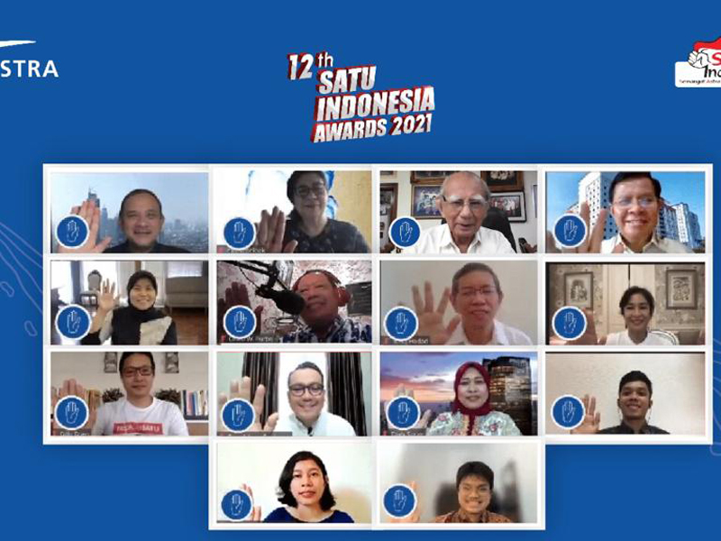 Kick off 12th SATU Indonesia Awards 2021 yang digelar secara virtual pada Selasa (2/3). Foto: Astra