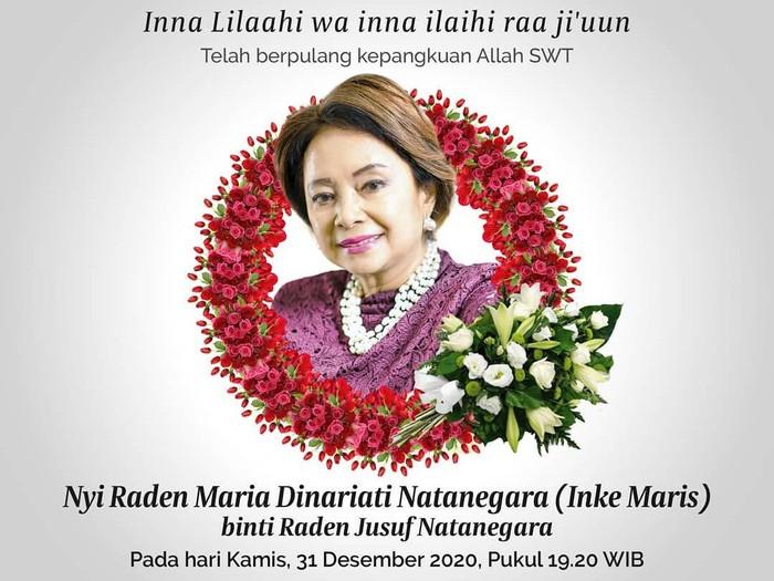Dunia penyiaran tanah air berduka setelah mantan penyiar TVRI Inke Maris meninggal dunia, Kamis (31/12). Foto: Instagram/Inkemarisassociates