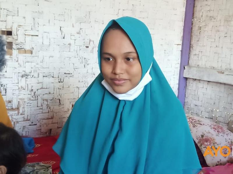 Janda asal Cianjur, Jawa Barat, bernama Siti Zainah yang hamil tanpa melakukan hubungan layaknya pasangan suami istri membuat gempar. Foto: Muhammad Iksan/Ayo Bandung
