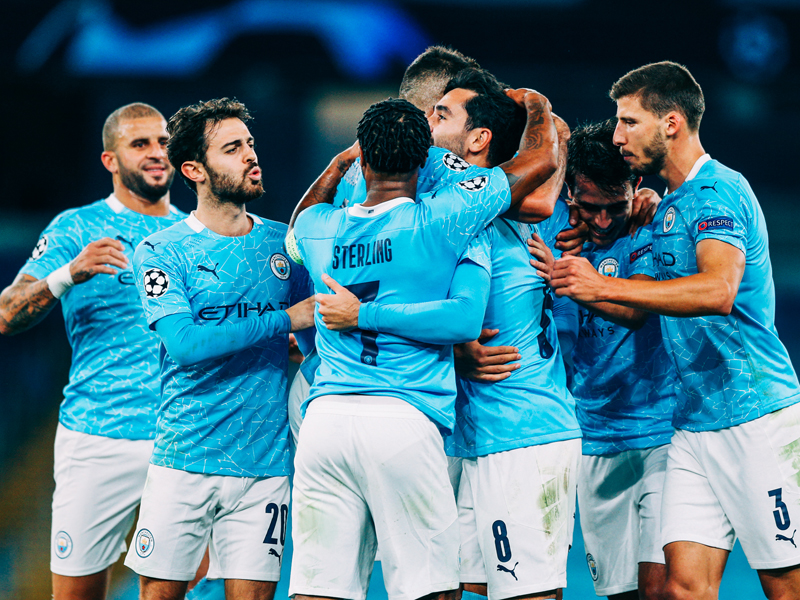 Manchester City tidak terlalu kesulitan ketika menghadapi Porto pada laga pertama Liga Champions 2020-2021. Foto: Twitter/Mancity