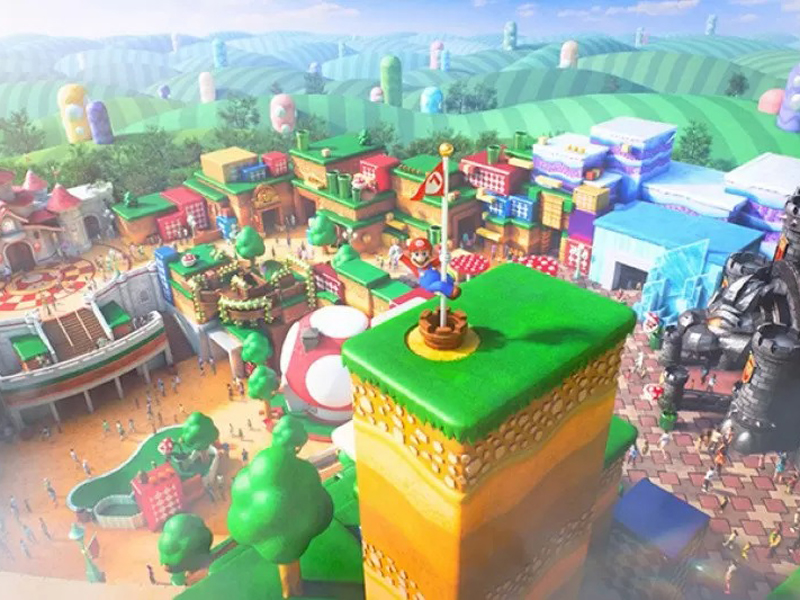 Ilustrasi tur virtual Super Nintendo World USJ, Jepang. Foto: Nintendo