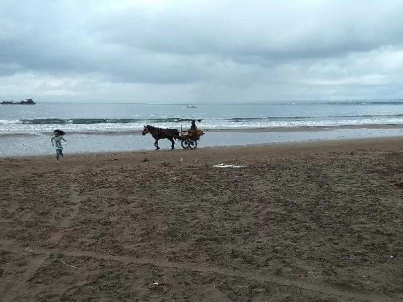 Pantai Pangandaran. Foto: Feri Purnama/Antara