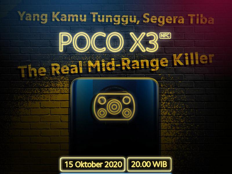 Poco X3 NFC. Foto: Twitter/Poco_id