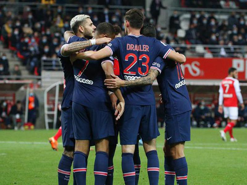 Mauro Icardi menjadi bintang dalam laga Reims vs PSG pada pekan kelima Ligue 1 alias Liga Prancis 2020-2021. Foto: Twitter/PSG_English