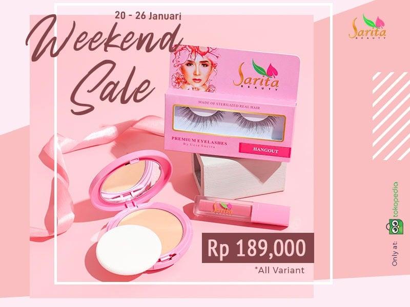 Sarita Beauty bakal mengadakan weekend sale pada 20-26 Januari 2021. Foto: Sarita Beauty