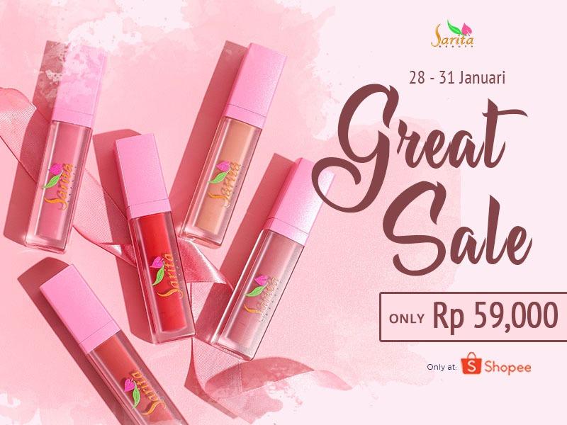 Great Sale Alert: Harga Spesial Lip Cream Sarita Beauty di Shopee