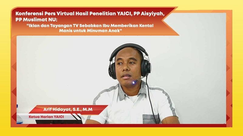Arif Hidayat, SE.MM, Ketua Harian YAICI ( foto: PR YAICI)