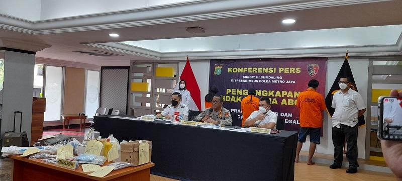 Polda Metro Jaya Menguak Kasus Aborsi Ilegal ( foto: Andri Bagus/ GenPI.co)