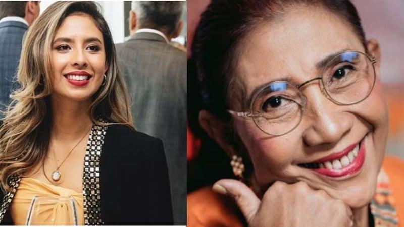Nadine Kaiser Putri Kebanggaan Susi Pudjiastuti (foto: SC IG @nadiepascale dan @usipudjiastuti115)