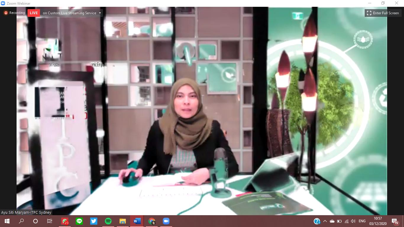 Webinar CoFREE Initiative bertajuk Produk Hijau Unggulan dan Potensi UMKM Hijau Indonesia. Foto: tangkapan layar