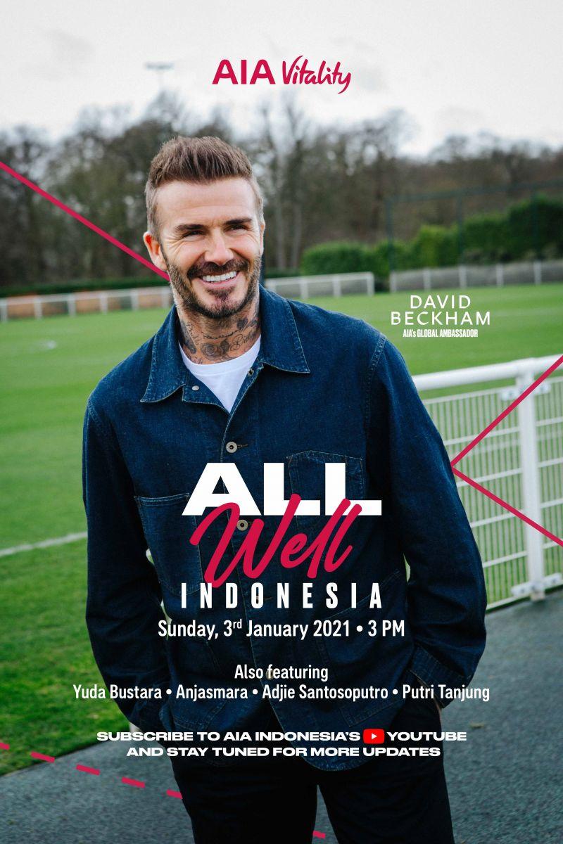 David Beckham akan menghadiri peluncuran AIA Vitality di Indonesia pada awal Januari 2021. Foto: dok. AIA Indonesia