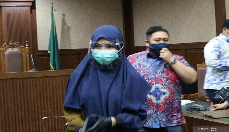 Jaksa Pinangki Sirna Malasari di pengadilan Tipikor Jakarta. FOTO: Antara